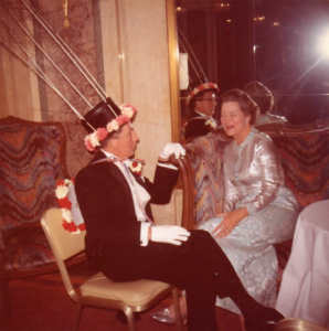 Extravagantly decorated hat c. 1970s